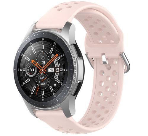 Strap-it® Strap-it® Samsung Galaxy Watch 45mm / 46mm siliconen bandje met gaatjes (roze)