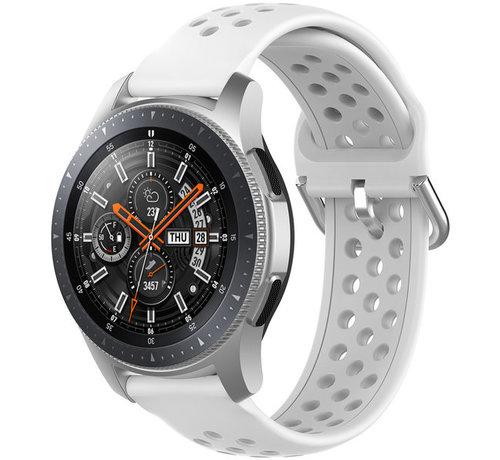 Strap-it® Strap-it® Samsung Galaxy Watch 45mm / 46mm siliconen bandje met gaatjes (wit)
