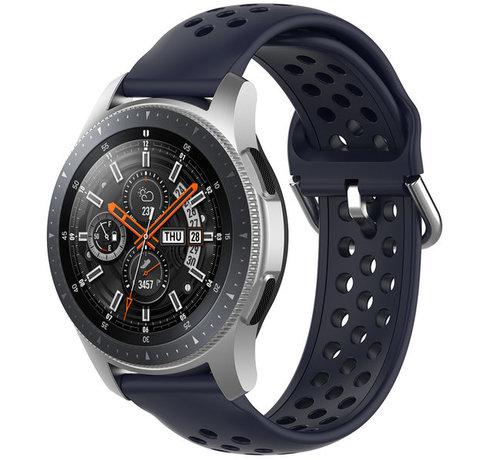 Strap-it® Strap-it® Samsung Galaxy Watch 45mm / 46mm siliconen bandje met gaatjes (donkerblauw)