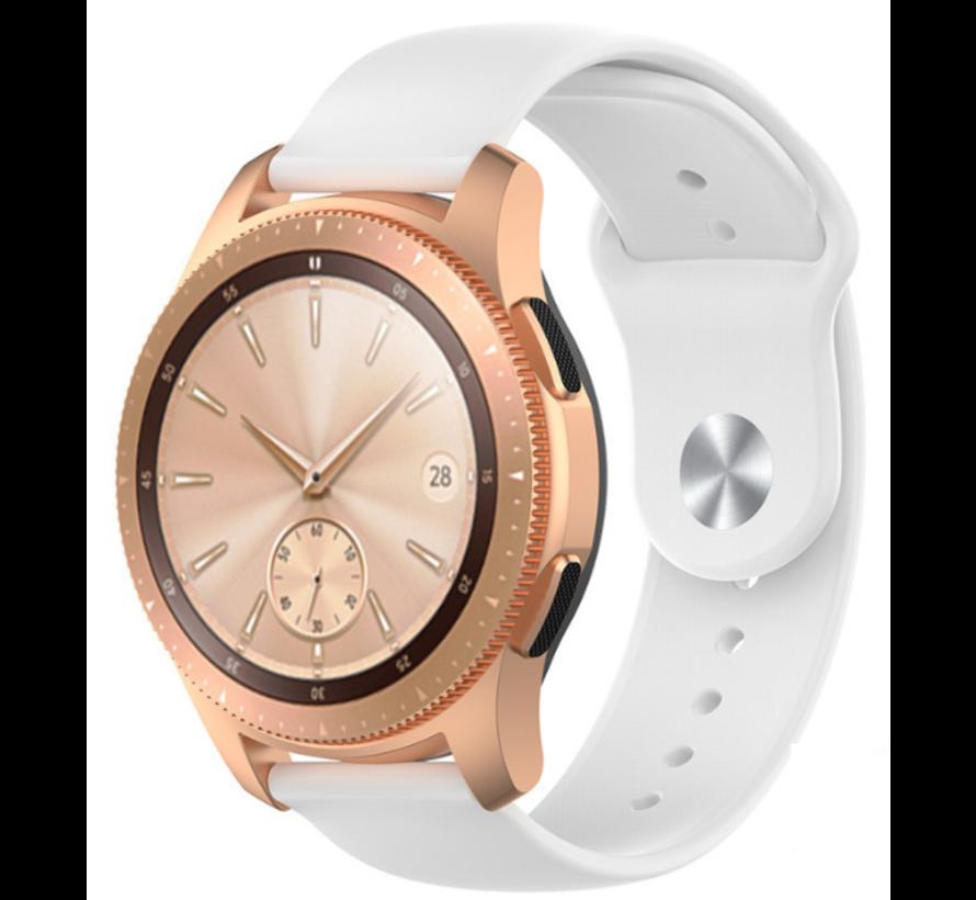 Strap-it® Samsung Galaxy Watch sport band 41mm / 42mm (wit)