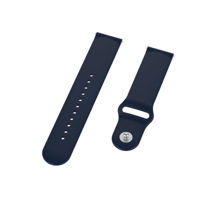 Strap-it® Samsung Galaxy Watch sport band 45mm /  46mm (donkerblauw)