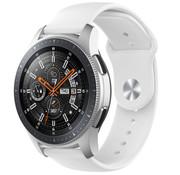 Strap-it® Samsung Galaxy Watch sport band 45mm / 46mm (wit)