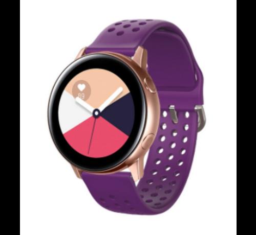 Strap-it® Strap-it® Samsung Galaxy Watch 41mm / 42mm siliconen bandje met gaatjes (paars)