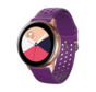 Strap-it® Samsung Galaxy Watch 41mm / 42mm siliconen bandje met gaatjes (paars)