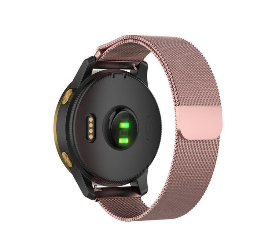 Strap-it® Garmin Vivoactive 4 Milanese band - 45mm - roze