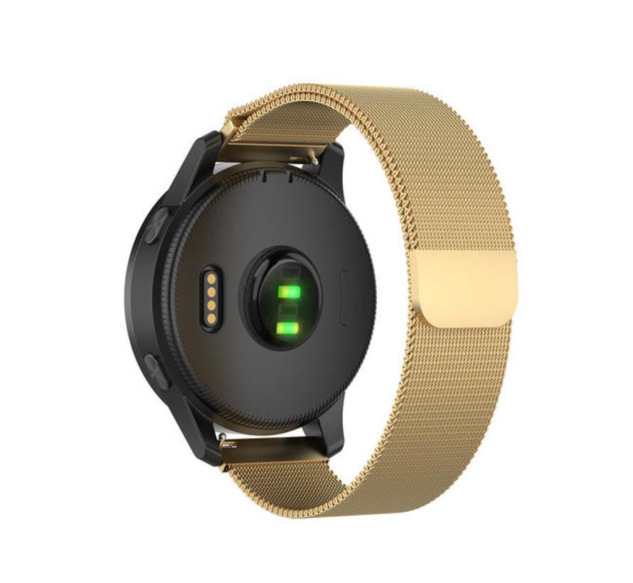 Strap-it® Garmin Vivoactive 4 Milanese band - 45mm - goud