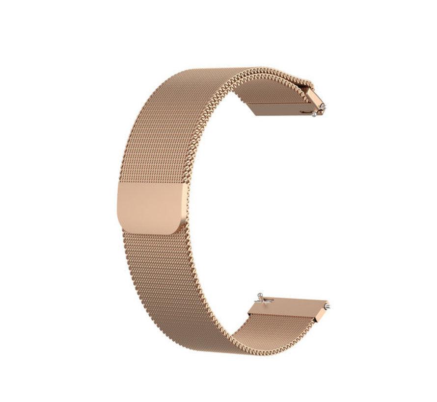 Strap-it® Garmin Vivoactive 4 Milanese band - 45mm - rosé goud