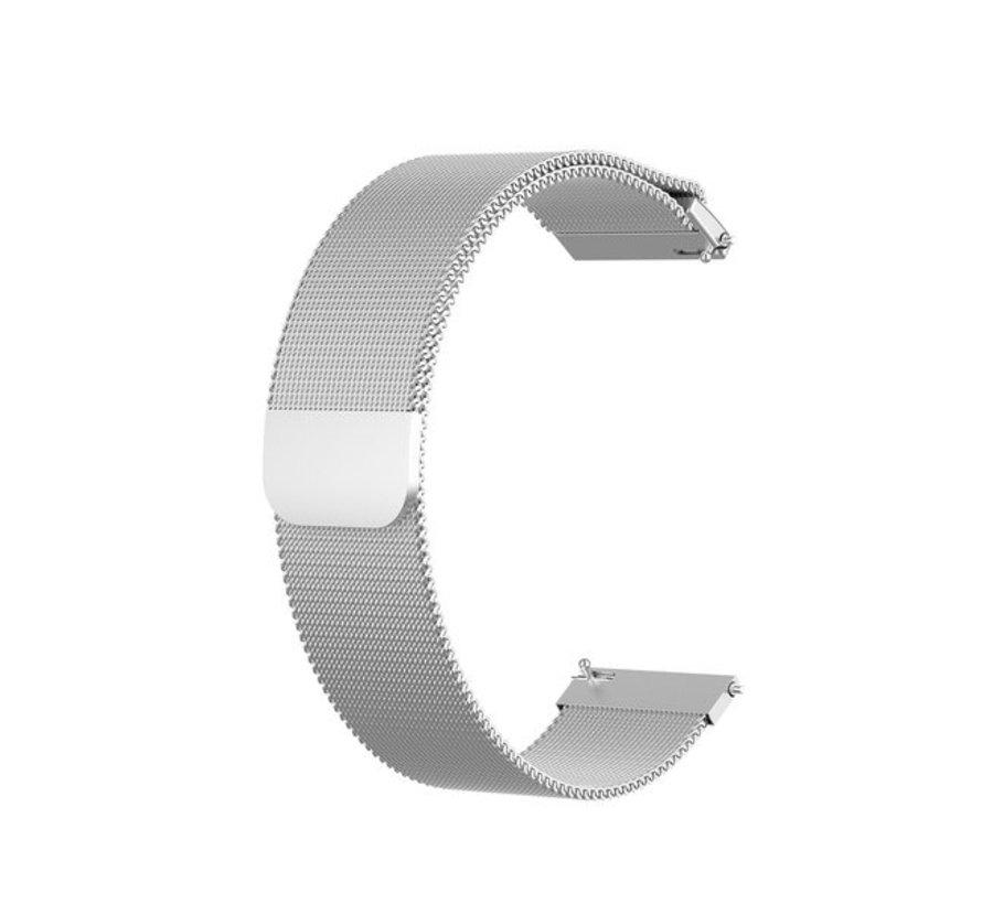Strap-it® Garmin Vivoactive 4 Milanese band - 45mm - zilver