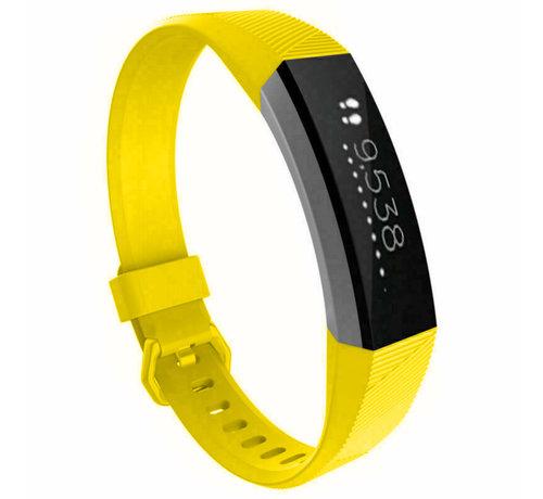 Strap-it® Strap-it® Fitbit Alta / Alta HR siliconen bandje (geel)