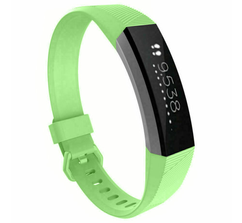 Strap-it® Strap-it® Fitbit Alta / Alta HR siliconen bandje (lichtgroen)