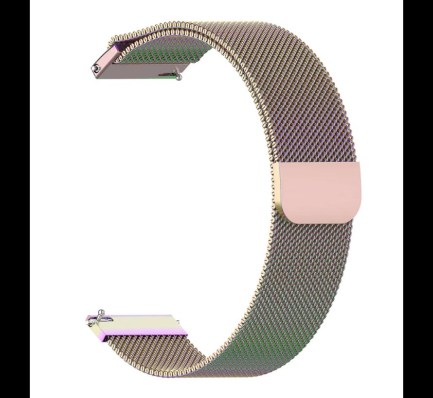 Strap-it® Garmin Vivoactive 3 Milanese band (regenboog)