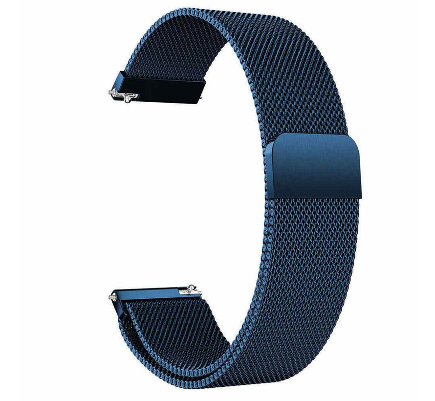 Strap-it® Garmin Vivoactive 3 Milanese band (blauw)