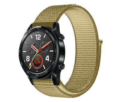 Strap-it® Strap-it® Huawei Watch GT nylon band (olijf)