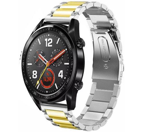 Strap-it® Strap-it® Huawei Watch GT stalen band (zilver/goud)