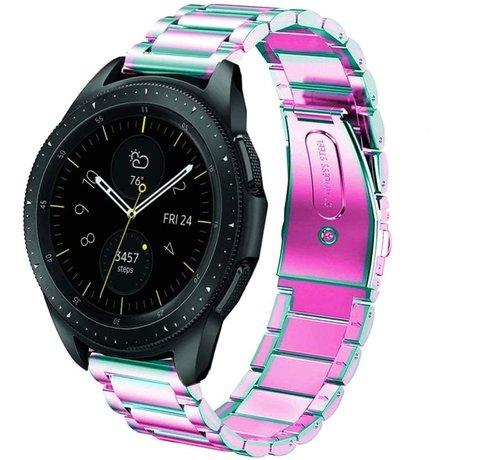 Strap-it® Strap-it® Samsung Galaxy Watch stalen band 41mm / 42mm (regenboog)