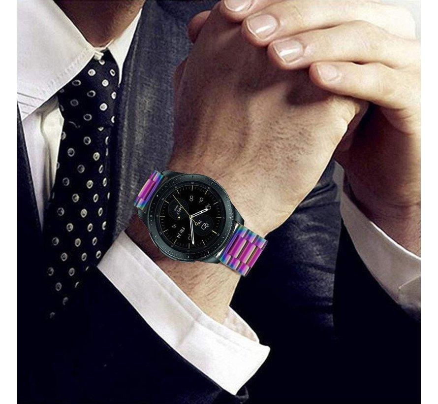 Strap-it® Samsung Galaxy Watch stalen band 41mm / 42mm (regenboog)