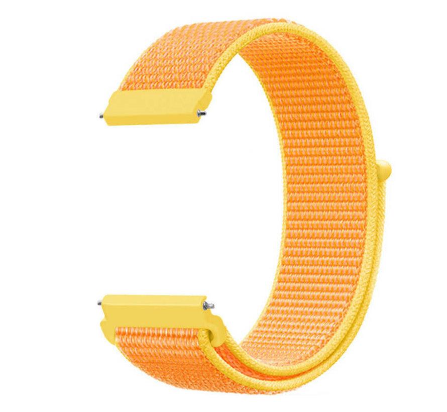 Strap-it® Garmin Vivomove HR nylon bandje (lichtgeel)
