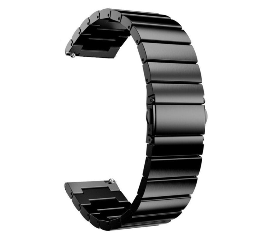 Strap-it® Samsung Gear Sport metalen bandje (zwart)