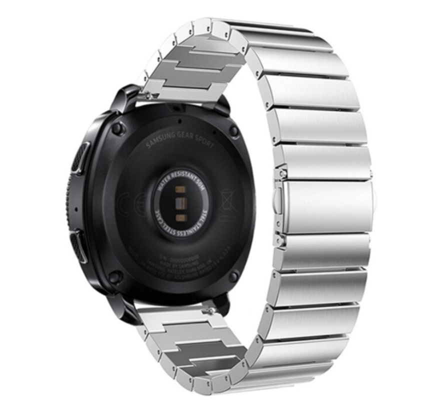 Strap-it® Samsung Gear Sport metalen bandje (zilver)