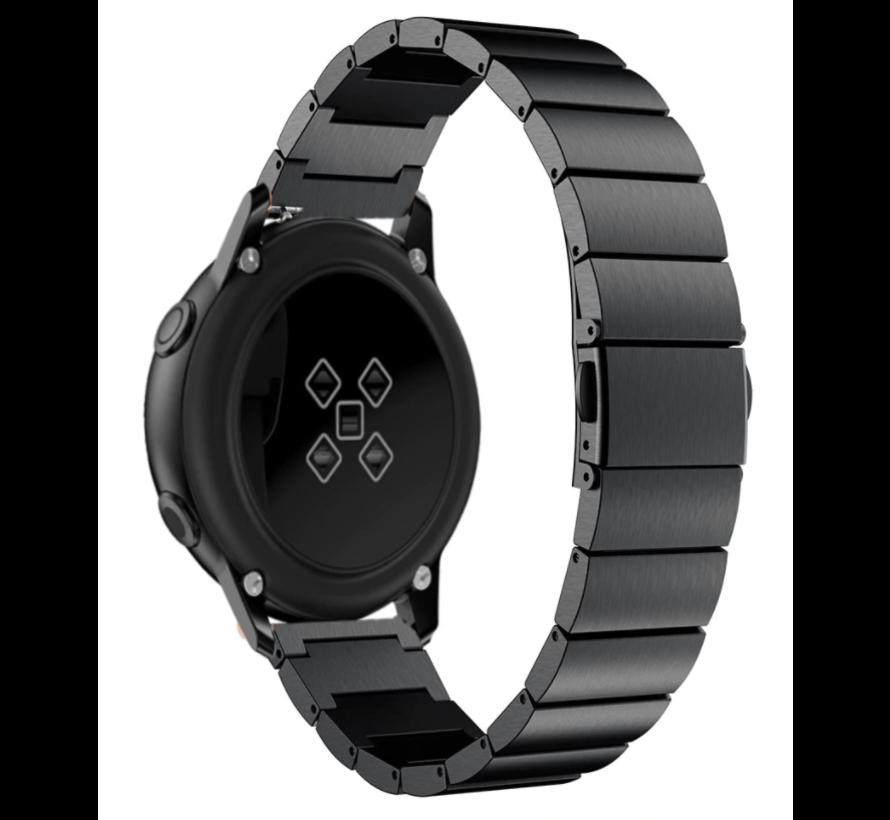 Strap-it® Garmin Venu metalen bandje (zwart)