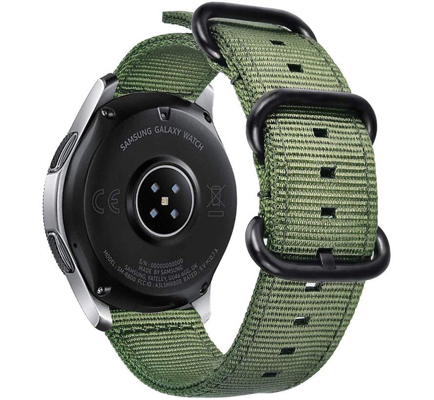 Strap-it® Garmin Vivoactive 4 nylon gesp band - 45mm - groen