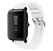 Strap-it® Xiaomi Amazfit Bip silicone band (wit)