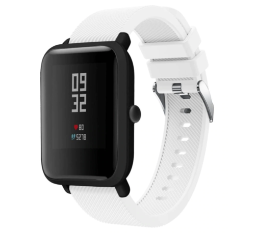 Strap-it® Strap-it® Xiaomi Amazfit Bip silicone band (wit)