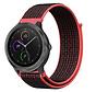 Strap-it® Garmin Vivoactive 4 nylon band - 45mm - zwart/rood