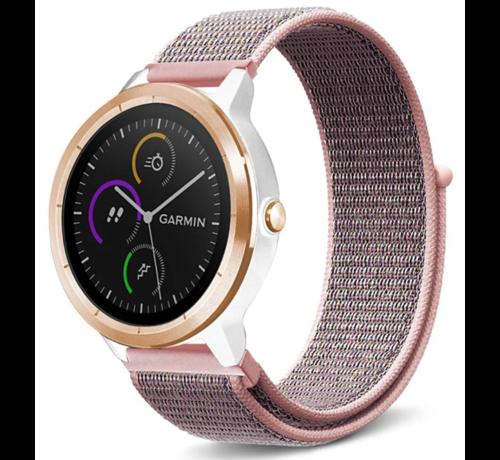Strap-it® Strap-it® Garmin Vivomove HR nylon bandje (pink sand)