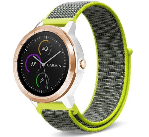 Strap-it® Strap-it® Garmin Vivoactive 4 nylon band - 45mm - fluoriserend