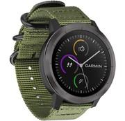 Strap-it® Garmin Venu nylon gesp band (groen)