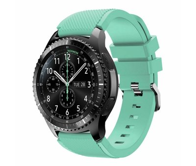 Strap-it® Strap-it® Samsung Galaxy Watch siliconen bandje 45mm / 46mm (aqua)