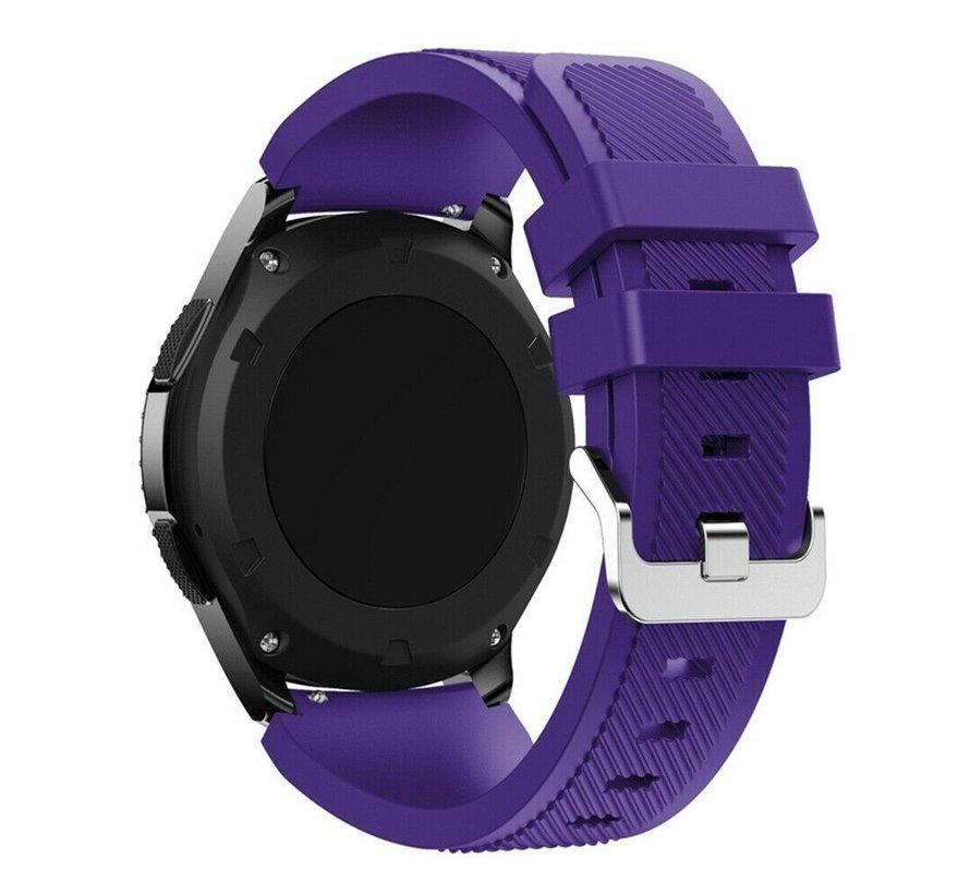 Strap-it® Samsung Galaxy Watch siliconen bandje 45mm / 46mm (paars)