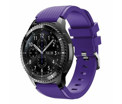 Strap-it® Strap-it® Samsung Galaxy Watch siliconen bandje 45mm / 46mm (paars)
