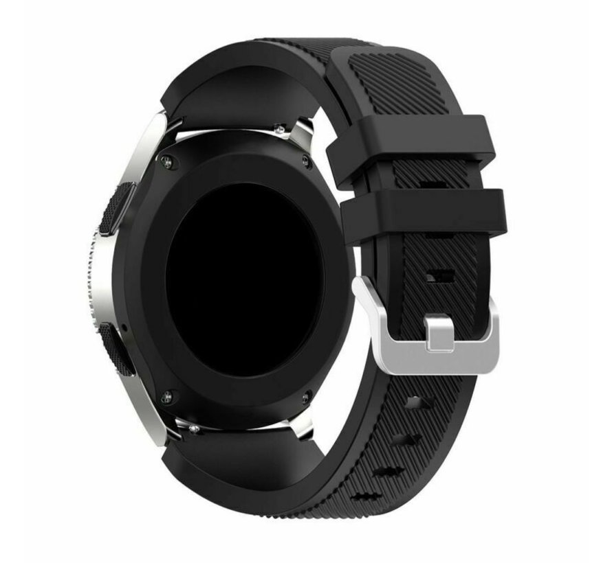 Strap-it® Samsung Gear S3 silicone band (zwart)