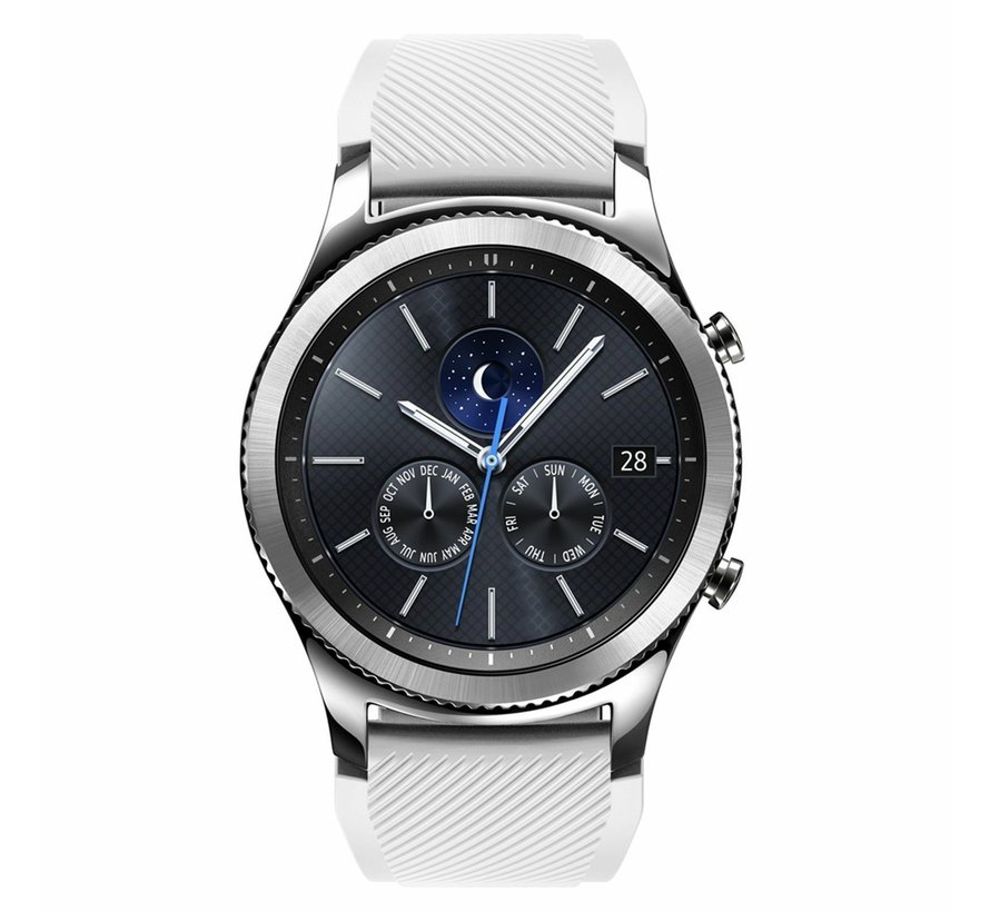 Strap-it® Samsung Gear S3 silicone band (wit)