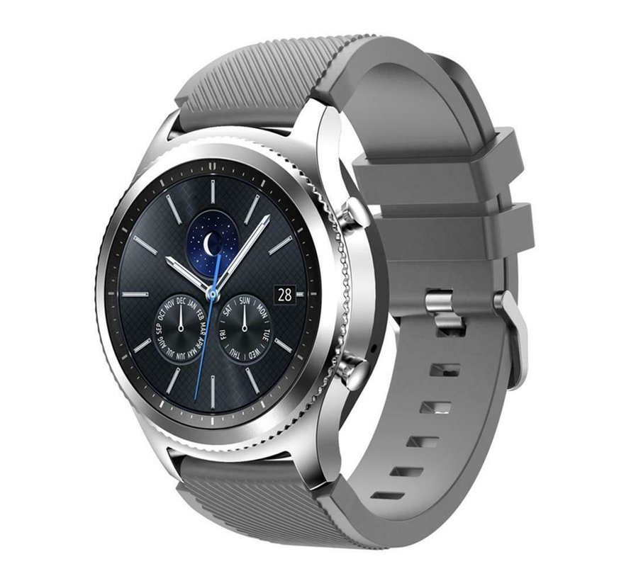Strap-it® Samsung Gear S3 silicone band (grijs)