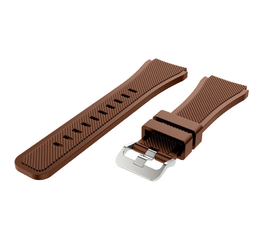Strap-it® Samsung Gear S3 silicone band (koffiebruin)