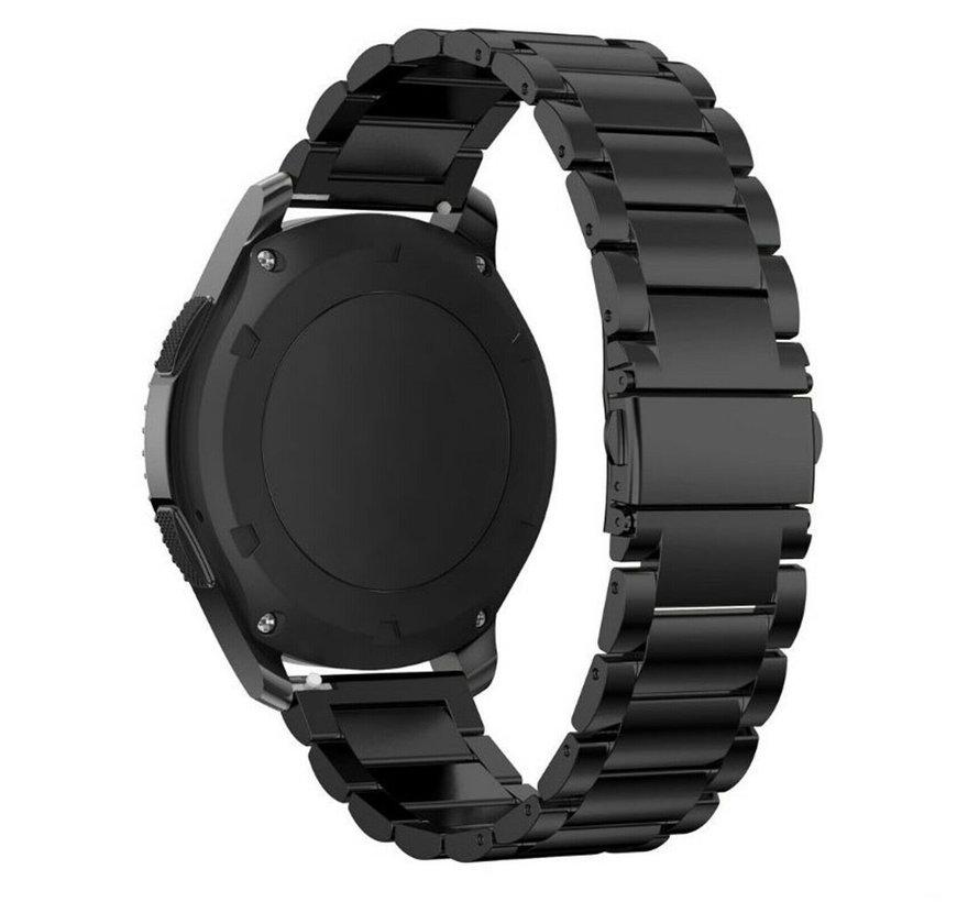Strap-it® Polar Ignite stalen band (zwart)