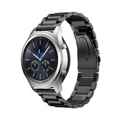 Strap-it® Samsung Gear S3 stalen band (zwart)