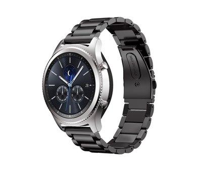 Strap-it® Strap-it® Samsung Gear S3 stalen band (zwart)