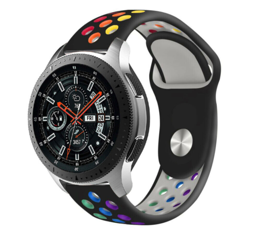 Strap-it® Strap-it® Samsung Galaxy Watch sport band 45mm / 46mm (zwart kleurrijk)