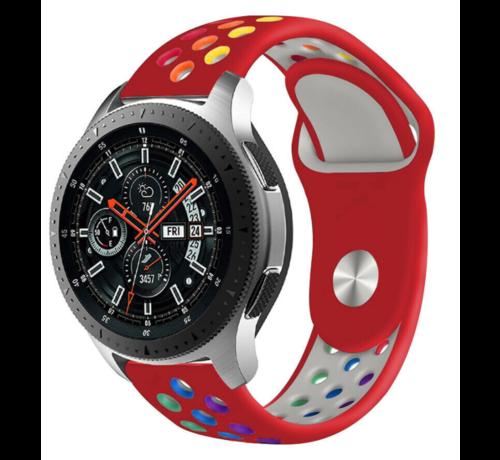 Strap-it® Strap-it® Samsung Galaxy Watch sport band 45mm / 46mm (rood kleurrijk)