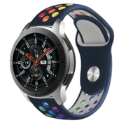 Strap-it® Samsung Galaxy Watch sport band 45mm / 46mm (donkerblauw kleurrijk)