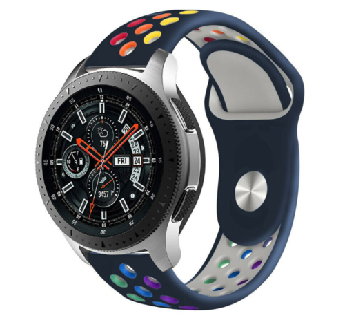 Strap-it® Strap-it® Samsung Galaxy Watch sport band 45mm / 46mm (donkerblauw kleurrijk)