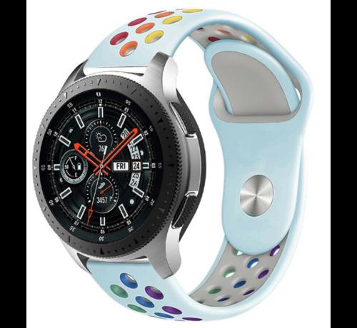 Strap-it® Strap-it® Samsung Galaxy Watch sport band 45mm / 46mm (lichtblauw kleurrijk)