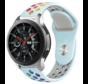 Strap-it® Samsung Galaxy Watch sport band 45mm / 46mm (lichtblauw kleurrijk)