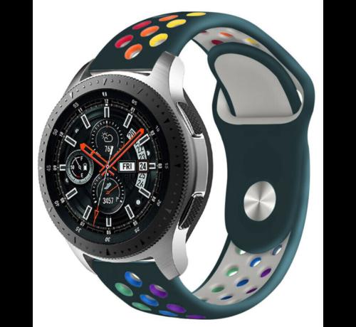 Strap-it® Strap-it® Samsung Galaxy Watch sport band 45mm / 46mm (dennengroen kleurrijk)