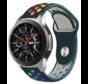 Strap-it® Samsung Galaxy Watch sport band 45mm / 46mm (dennengroen kleurrijk)