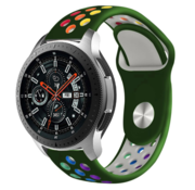 Strap-it® Samsung Galaxy Watch sport band 45mm / 46mm (legergroen kleurrijk)